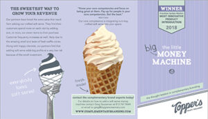 Complementary branding with Topper's Craft Creamery brochure
